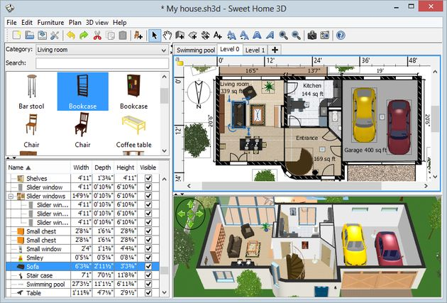 Sweet home 3d software multiplataforma y gratuito para House plan 3d online