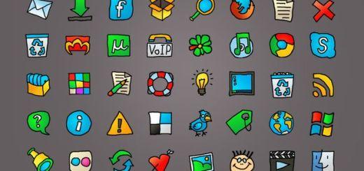Web Cartoon, un set de iconos para la web con estilo cartoon