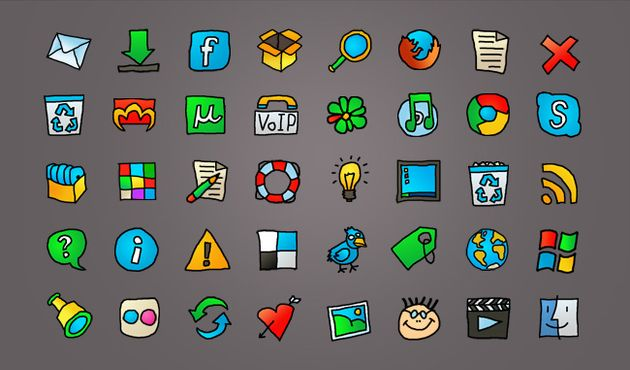 Web Cartoon Web Cartoon, un set de iconos para la web con estilo cartoon