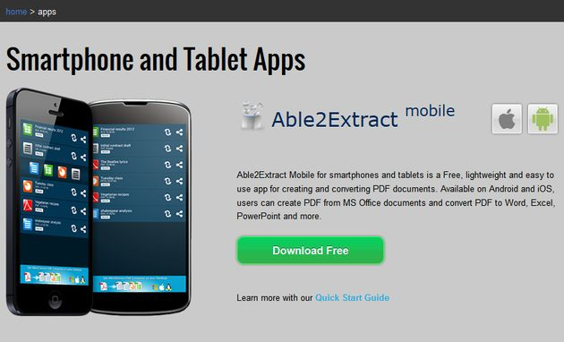 Able2Extract Able2Extract, crea y convierte PDF desde tu iOS o Android