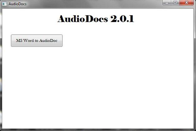 AudioDocs, convierte documentos DOC a archivos de audio