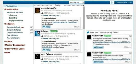 Commun.it, plataforma para gestionar nuestras relaciones en Twitter