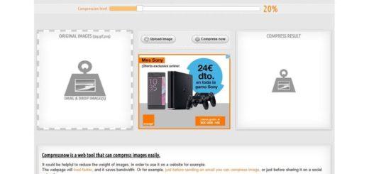 Compressnow: comprime imágenes para su uso en la web