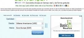 ConversordeMonedas, calcula el valor actualizado de múltiples divisas