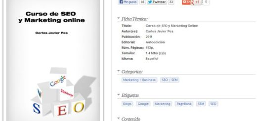 Curso de SEO y Marketing Online, libro digital gratuito para aprender a posicionar nuestros sitios