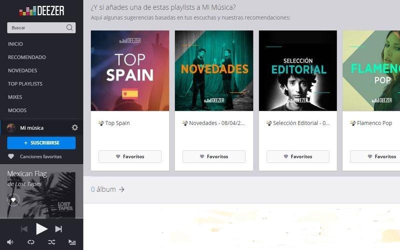 Deezer: una buena alternativa a Spotify para escuchar música