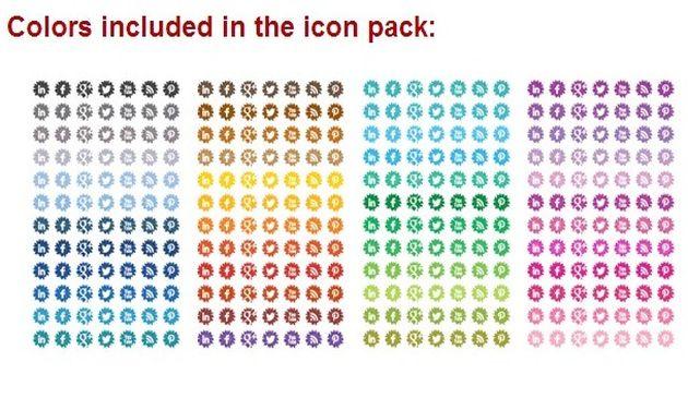 Pack con 1680 iconos sociales gratuitos con forma de flor