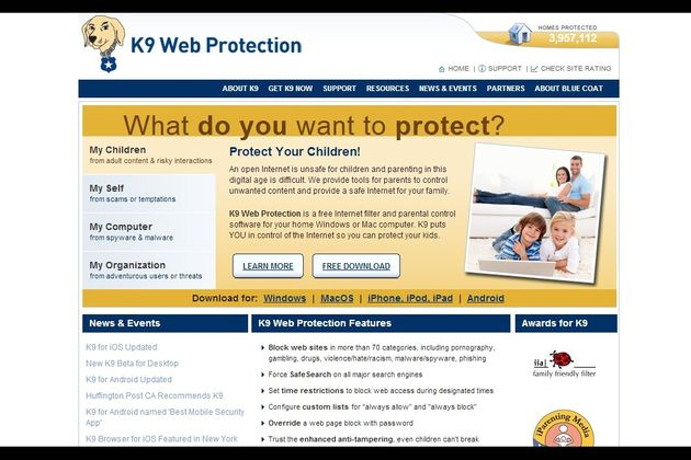 K9 Web Protection K9 Web Protection, app gratuita multiplataforma para control parental