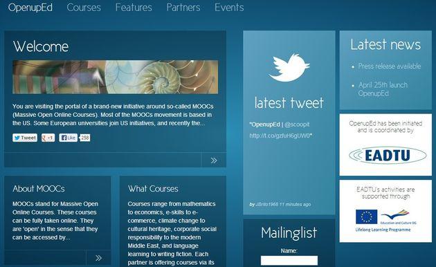 OpenupEd, otro sitio con una gran colección de cursos MOOC