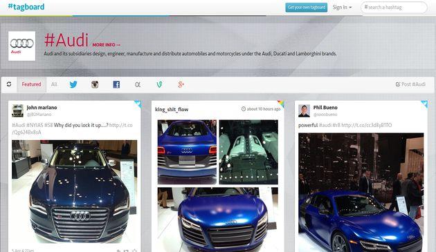 Tagboard, potente buscador de hashtags en múltiples redes sociales