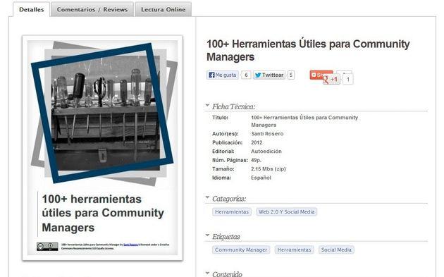 Ebook gratuito: 100+ Herramientas Útiles para Community Managers