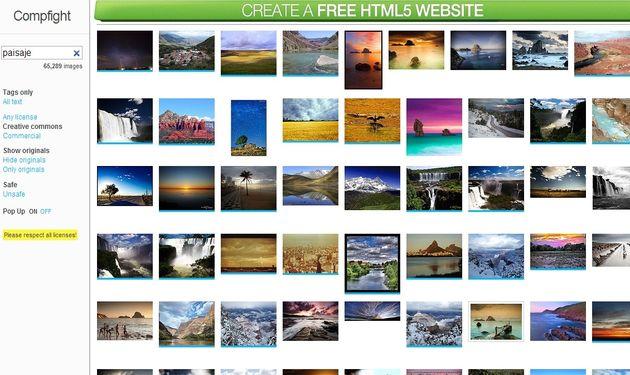Compfight Compfight, práctico buscador de imágenes Creative Commons en Flickr