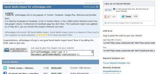 Cool Social, análisis del impacto de tu sitio en las redes sociales