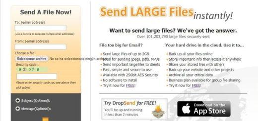 DropSend, otra alternativa para el envío de grandes archivos