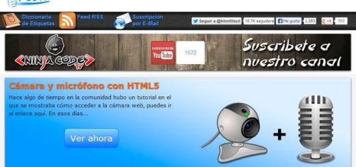 HTML5 Fácil, tutoriales y recursos para programación en HTML5