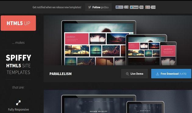 HTML5 Up: excelente colección de plantillas HTML5 gratuitas