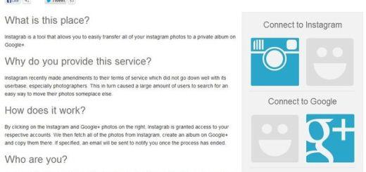 Instagrab, haz un backup de tus fotos de Instagram en Google+
