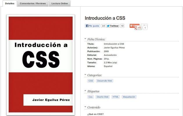 Introducción a CSS, ebook gratuito para aprender el lenguaje CSS