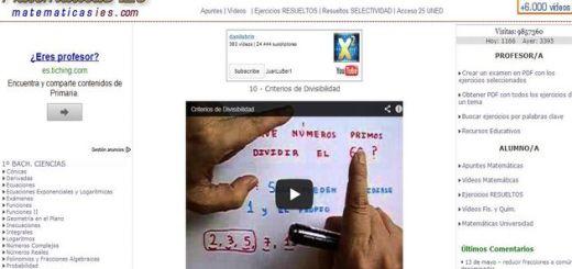 Matemáticas IES: vídeos de matemáticas, apuntes y ejercicios