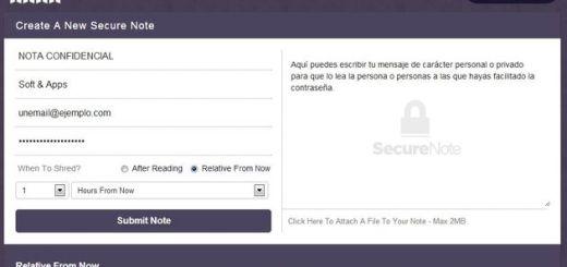 NoteShred, envía mensajes confidenciales que se autodestruyen