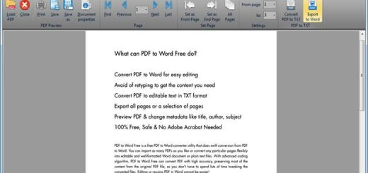 PDF to Word Free, software para convertir PDF a DOC y TXT