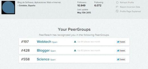 PeerReach, exhaustivo análisis de tu influencia en Twitter