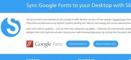 Ya es posible sincronizar Google Fonts con las fuentes de nuestro PC