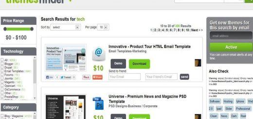 Themes Finder, potente buscador de temas Premium para tu sitio