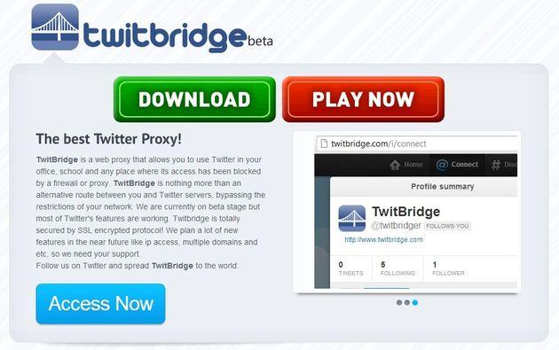 TwitBridge, un proxy específico para acceder a Twitter