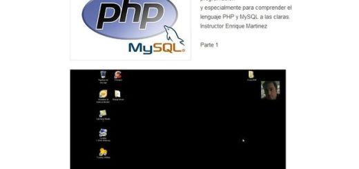 Vídeo tutoriales para aprender a programar con PHP y MySQL