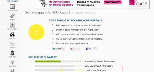 WebRank Page: detallado análisis social, estadístico y SEO de tu web