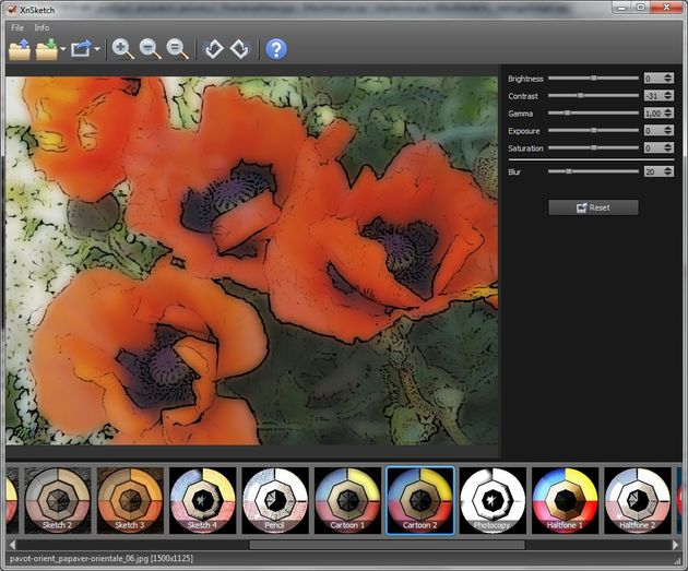 XnSketch XnSketch, convierte tus fotos en cartoons con este software gratuito