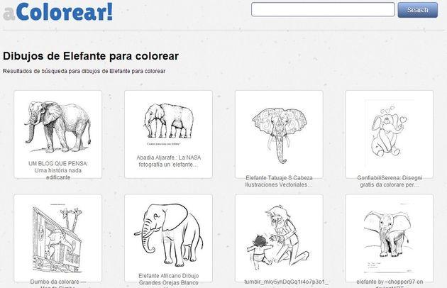 aColorear, buscador de dibujos para colorear para niños