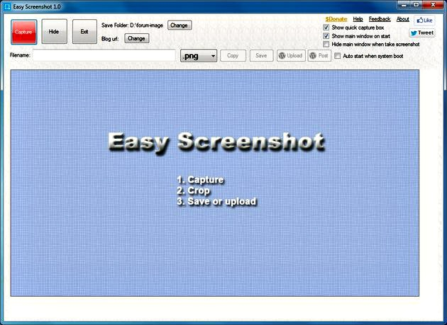 Easy Screenshot Easy Screenshot, toma screenshots y envíalos a tu blog en WordPress
