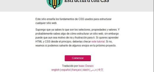 Estructura con CSS, un tutorial para aprender los fundamentos de CSS