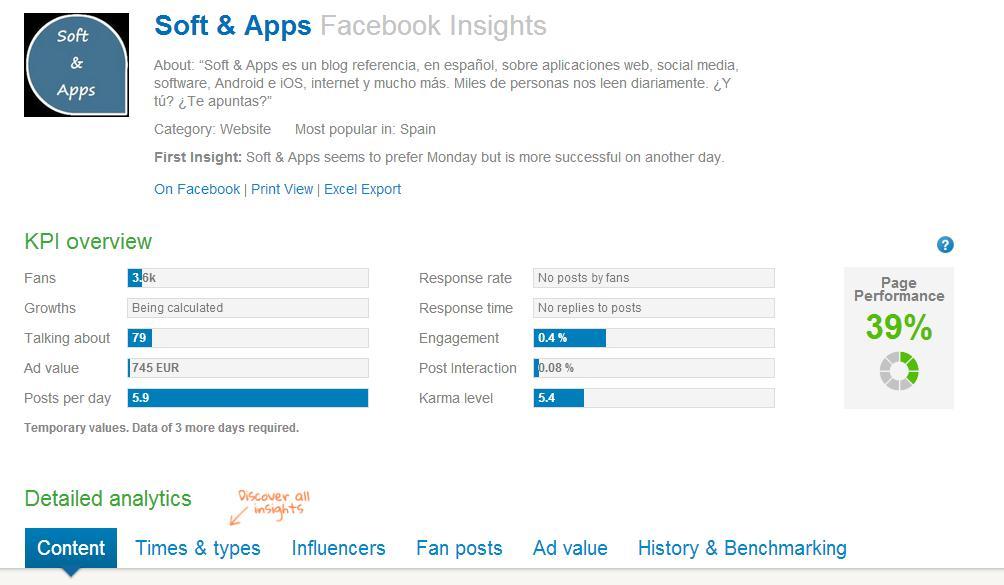Fanpage Karma, completo análisis y estudio de tu página de Facebook
