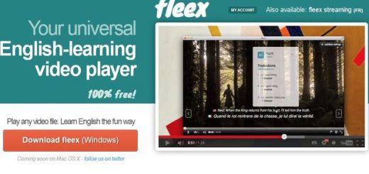 Fleex, un reproductor de vídeo gratuito que te enseña inglés
