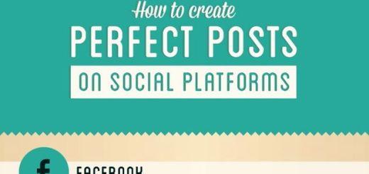 Infografía que nos enseña a crear posts perfectos para las redes sociales