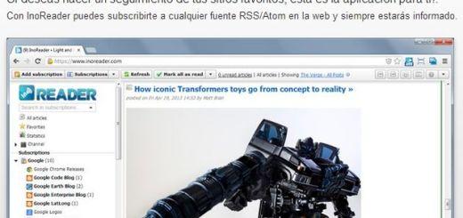 InoReader, un completo lector de feeds online para tus suscripciones