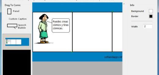 Radical Comic Designer, software gratuito para crear cómics y viñetas