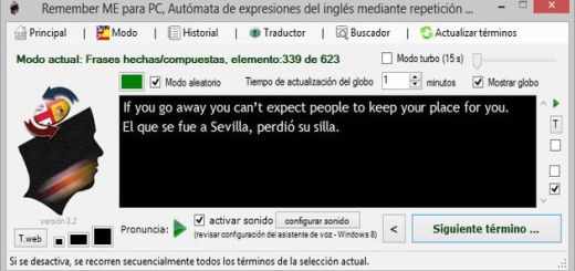 Remember ME, software gratuito para aprender o perfeccionar el inglés