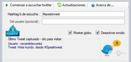 Speak Tweet, monitoriza y escucha tweets con hashtags de tu interés
