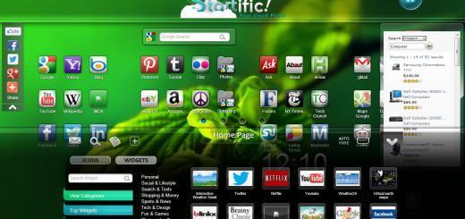 Startific, una bella página de inicio con iconos de todos tus sitios