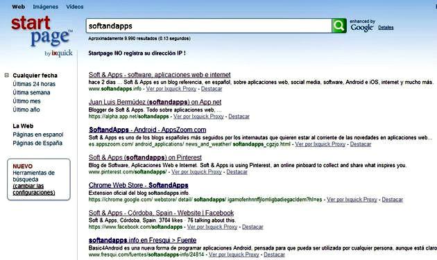 Startpage: un buscador, basado en Google, que garantiza tu privacidad