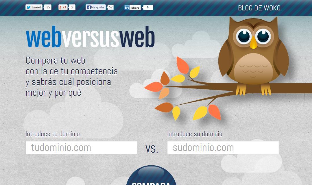 WebversusWeb, compara dos páginas para descubrir cuál posiciona mejor
