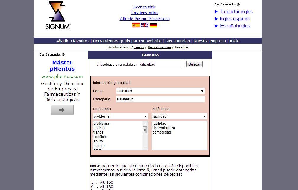 Diccionario de antónimos y sinónimos en línea y gratuito