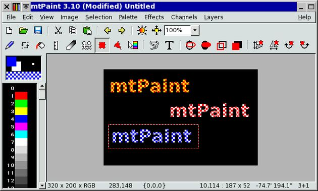 mtPaint mtPaint, una alternativa a Paint disponible para Windows y Linux