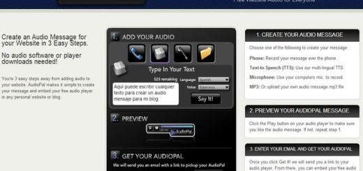 AudioPal, servicio gratuito para insertar mensajes de audio en tu blog o página