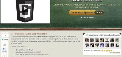 Bases de HTML5, completo curso gratuito en español sobre HTML5