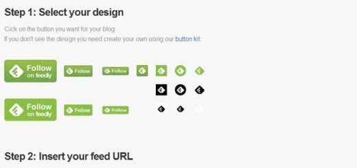 Feedly presenta diferentes botones de suscripción para nuestro blog